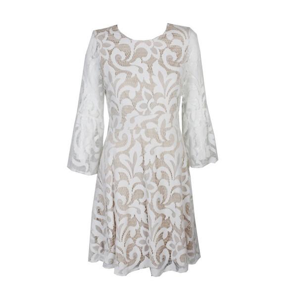 699251c91c28d Jessica Howard Dresses | Petite Ivory Lace Bell Sleeve Dress | Poshmark